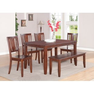 Parfait 6 Piece Solid Wood Dining Table