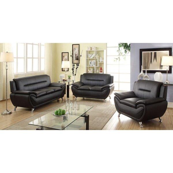 Superior Latitude Run Bergenfield 3 Piece Sofa Set U0026 Reviews | Wayfair