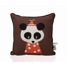 Posey Panda Cotton Throw Pillow