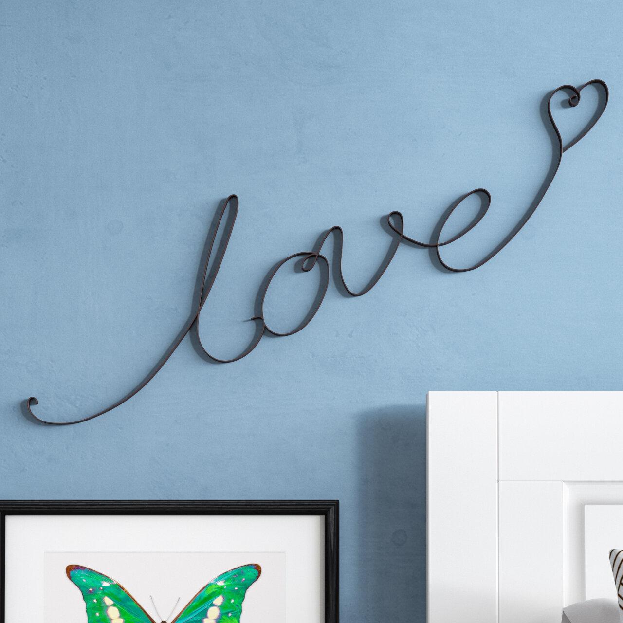 Latitude run love cursive wall décor reviews wayfair