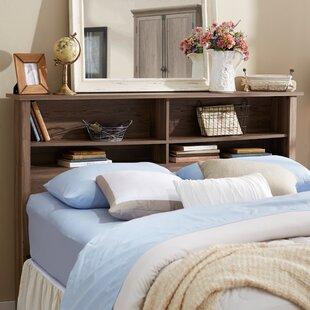 bookcase headboards you ll love wayfair rh wayfair com bed headboard shelving bed headboard shelf