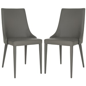 Sherwood Genuine Leather Upholstered Dining Chair (Set Of 2)
