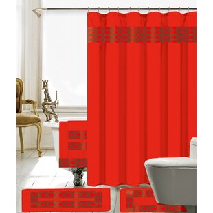 Red Shower Curtains Youll Love
