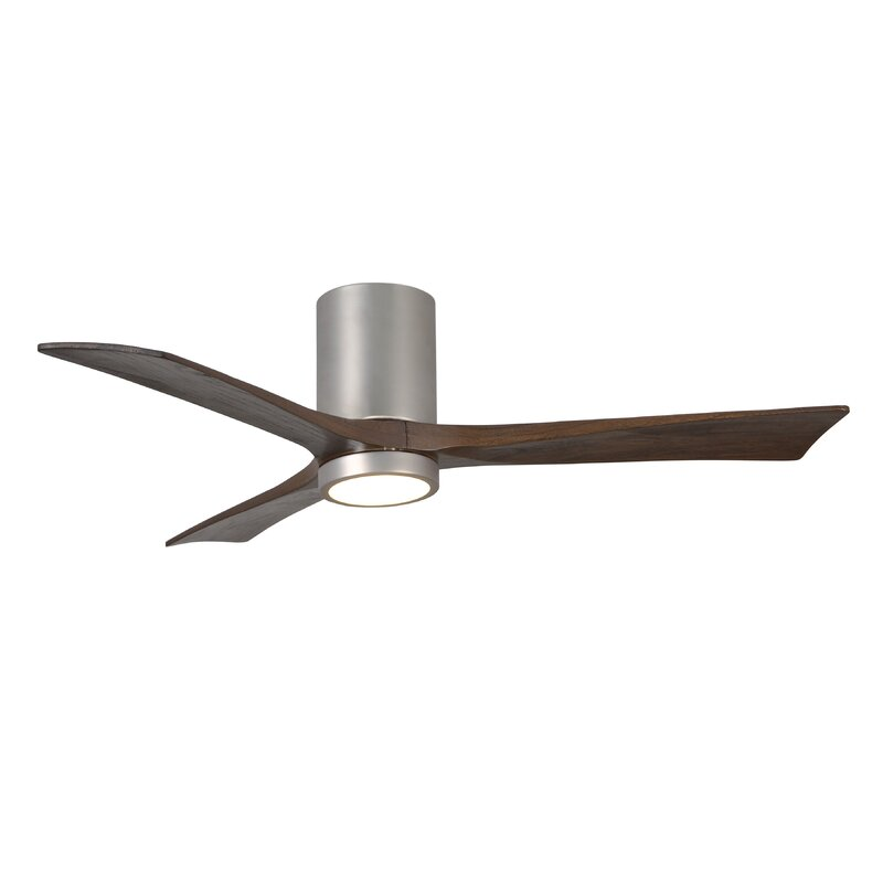 52 Rosalind 3 Blade Hugger Ceiling Fan With Wall Remote And Light Kit