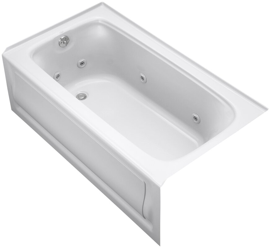 K-1151-LAW-0,47,96 Kohler Bancroft Alcove Whirlpool Bath with Tile ...