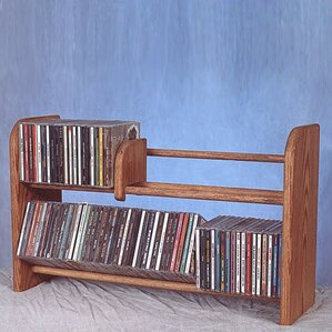 200 Series 110 CD Multimedia Tabletop Storage Rack by Wood Shed