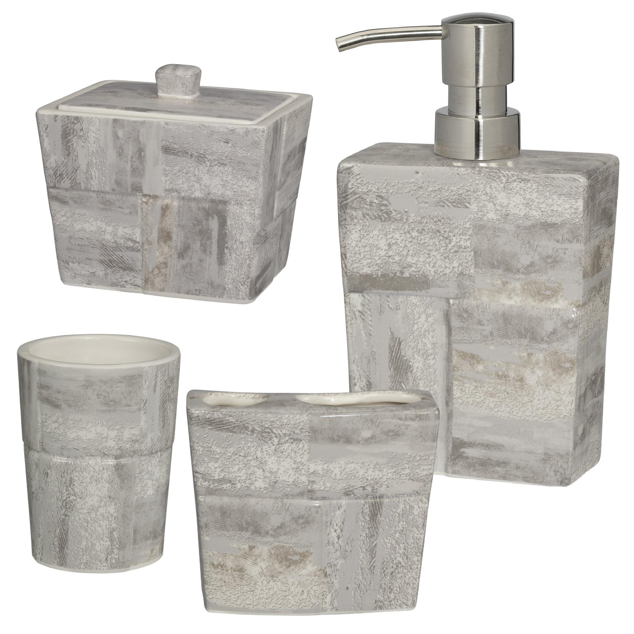 Union Rustic Tereza Quarry 4 Piece Bathroom Accessory Set Reviews Wayfair