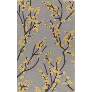 Marigold Caroline Hand-Crafted Gray/Yellow Area Rug
