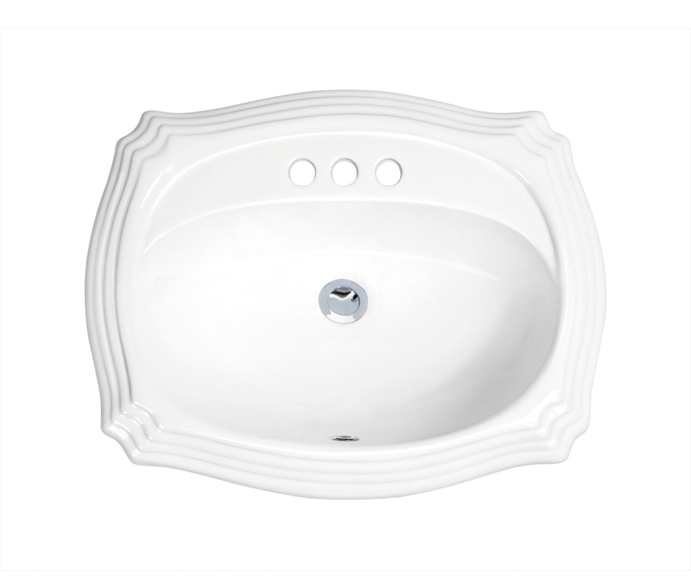 Prime Top Mount Vitreous China Oval Drop In Bathroom Sink With Overflow Home Interior And Landscaping Palasignezvosmurscom