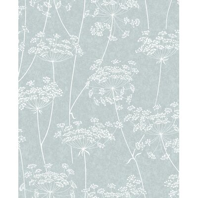 Charlton Home Mount Washington Aura 33' x 20 Floral and Botanical Wallpaper Color: Blue
