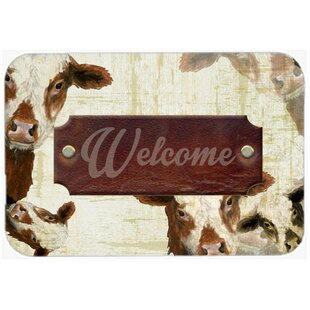 Superieur Welcome Cow Kitchen/Bath Mat