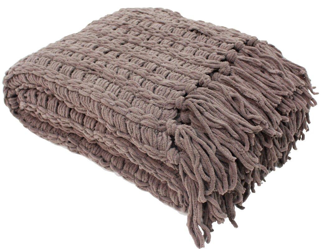 Manorville Luxury Chenille Throw Blanket