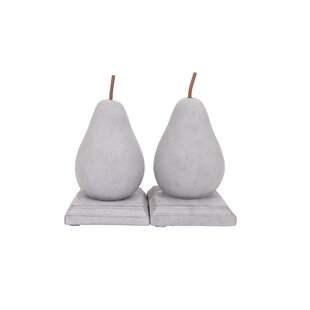 Resin Pear Shaped Bookends (Set Of 2)