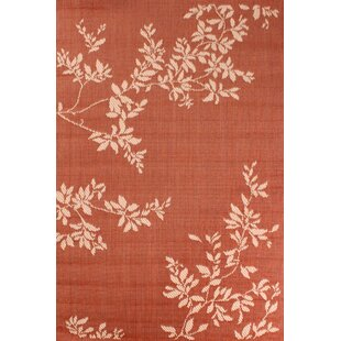 Outdoor Leaves Terracotta Rug by Ultimate Home Living Group