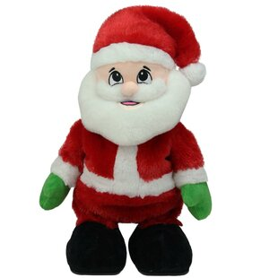 animated tickle n laugh santa claus plush christmas figure