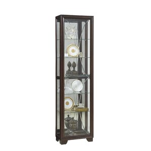 Anaya Lighted Curio Cabinet by Alcott Hill