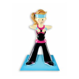 Work Out Girl Sports Workout Female Shaped Ornament