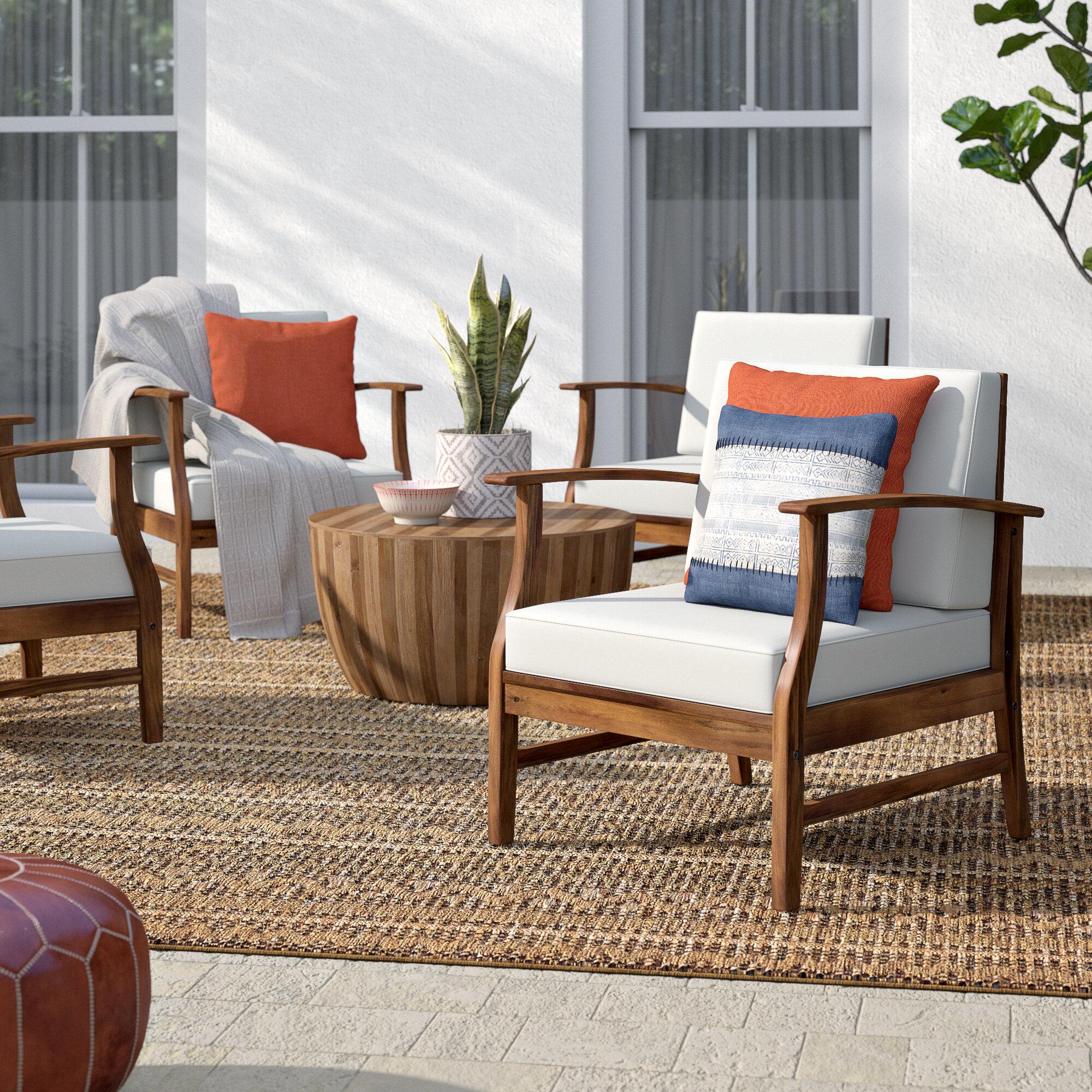 Acacia Wood Outdoor Club Chairs Youu0027ll Love In 2019 | Wayfair
