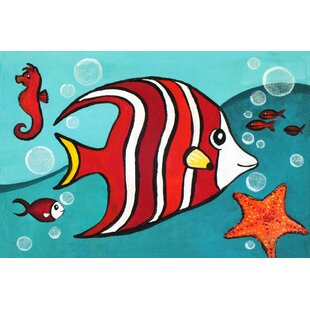 Red Fish by Nicola Joyner Painting Print Canvas Art by East Urban Home