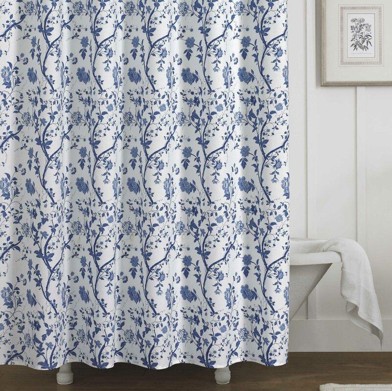 Laura Ashley Home Charlotte 100% Cotton Shower Curtain
