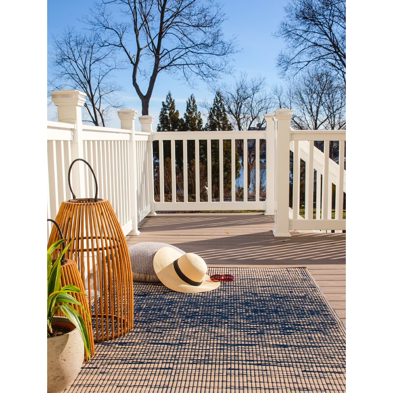 Beachcrest Home Marianne Blue Indoor Outdoor Area Rug