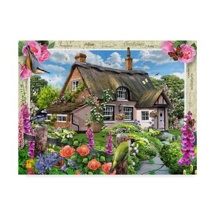 U0027Large Garden Houseu0027 Acrylic Painting Print On Wrapped Canvas