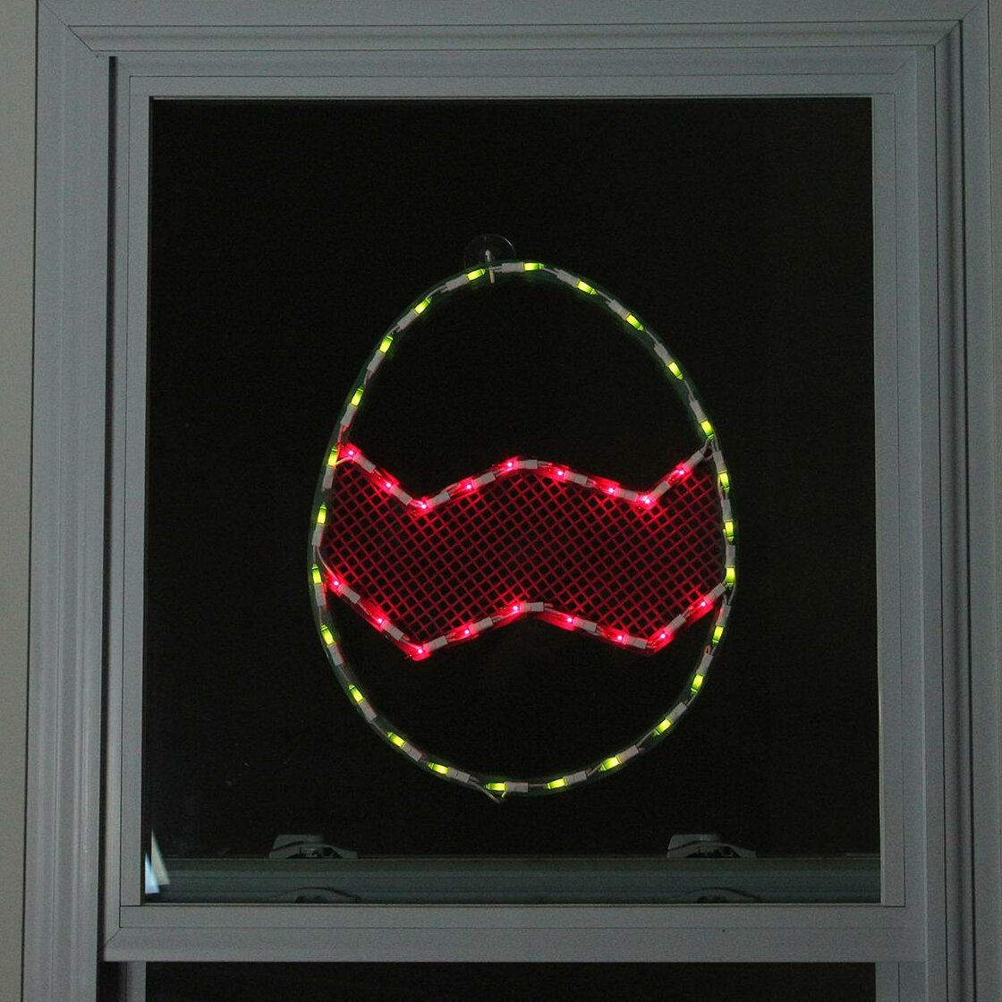 Northlight lighted easter egg window silhouette decoration for 18 lighted christmas tree with stars window silhouette decoration