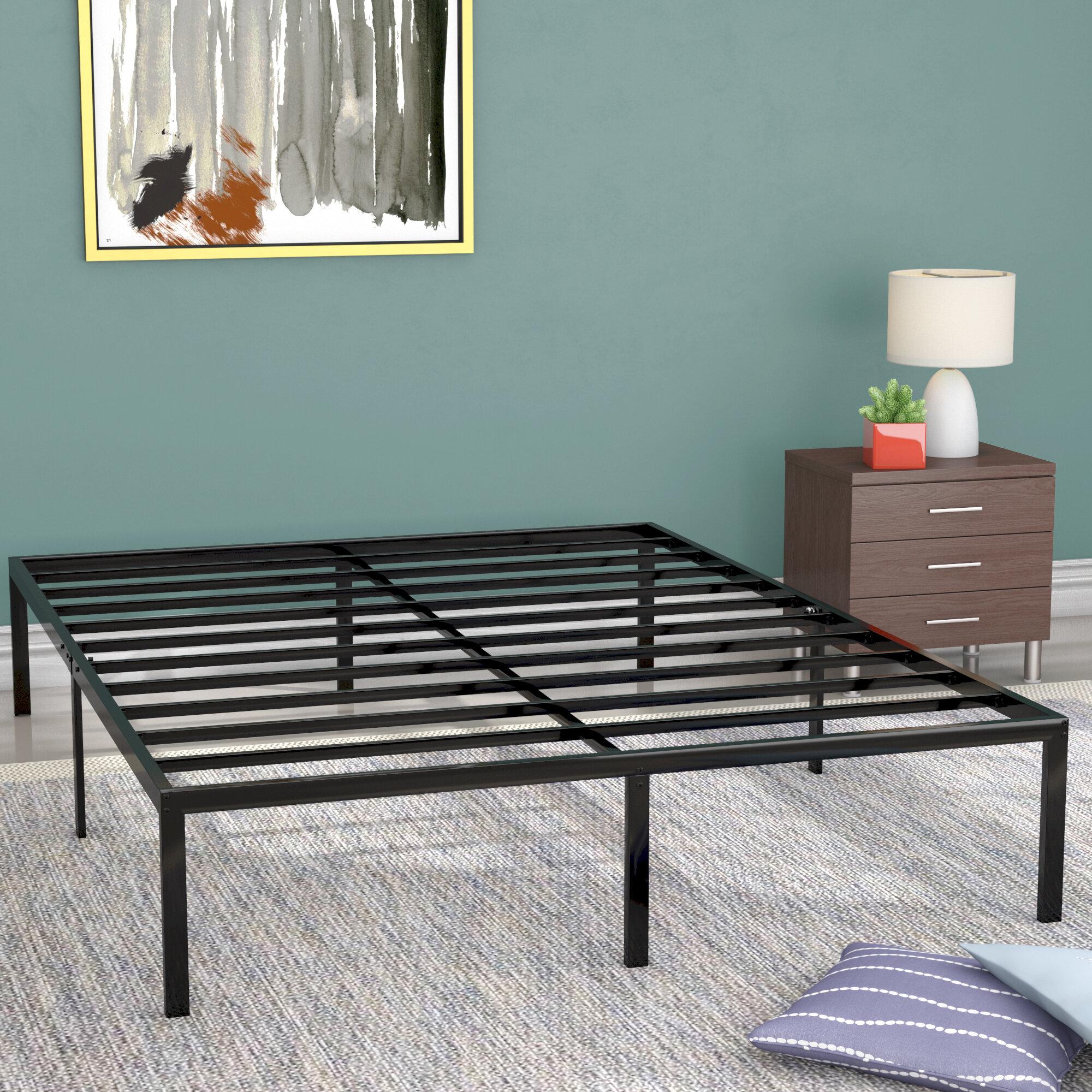 Alwyn home classic metal platform bed frame reviews wayfair solutioingenieria Image collections