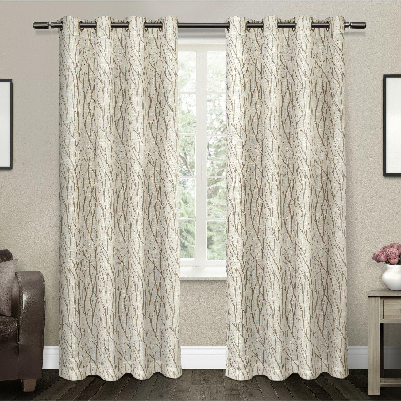 floral treatments wayfair grommet sheer textiles curtain reviews oakdale pdx curtains naturefloral window nature amalgamated panels