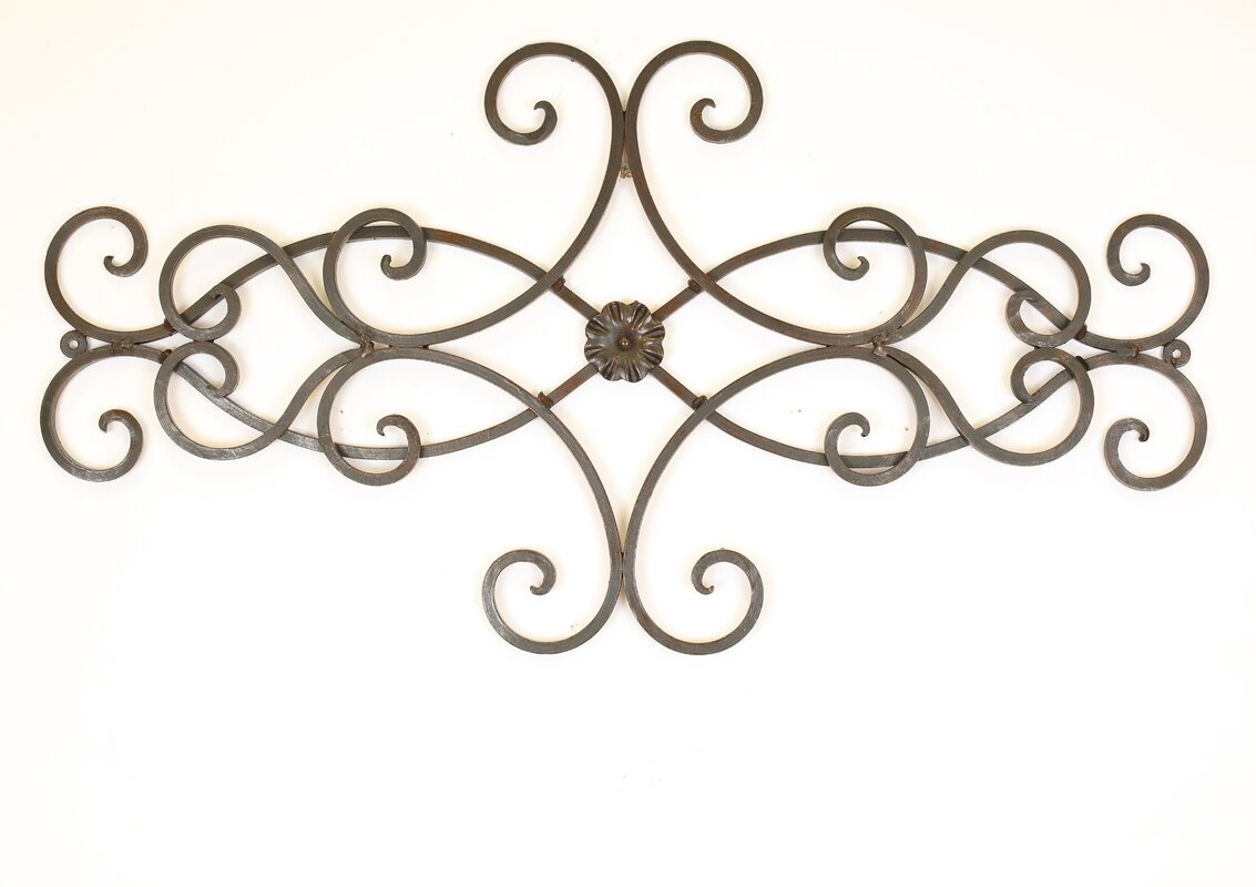 Long Wrought Iron Wall Decor Door Topper Wall Decor  Wayfair