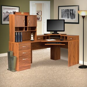 lewisville corner computer desk with hutch