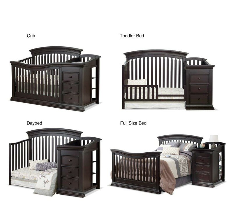 1fbfc8cebbf Sorelle Sedona 4-in-1 Convertible Crib and Changer & Reviews   Wayfair