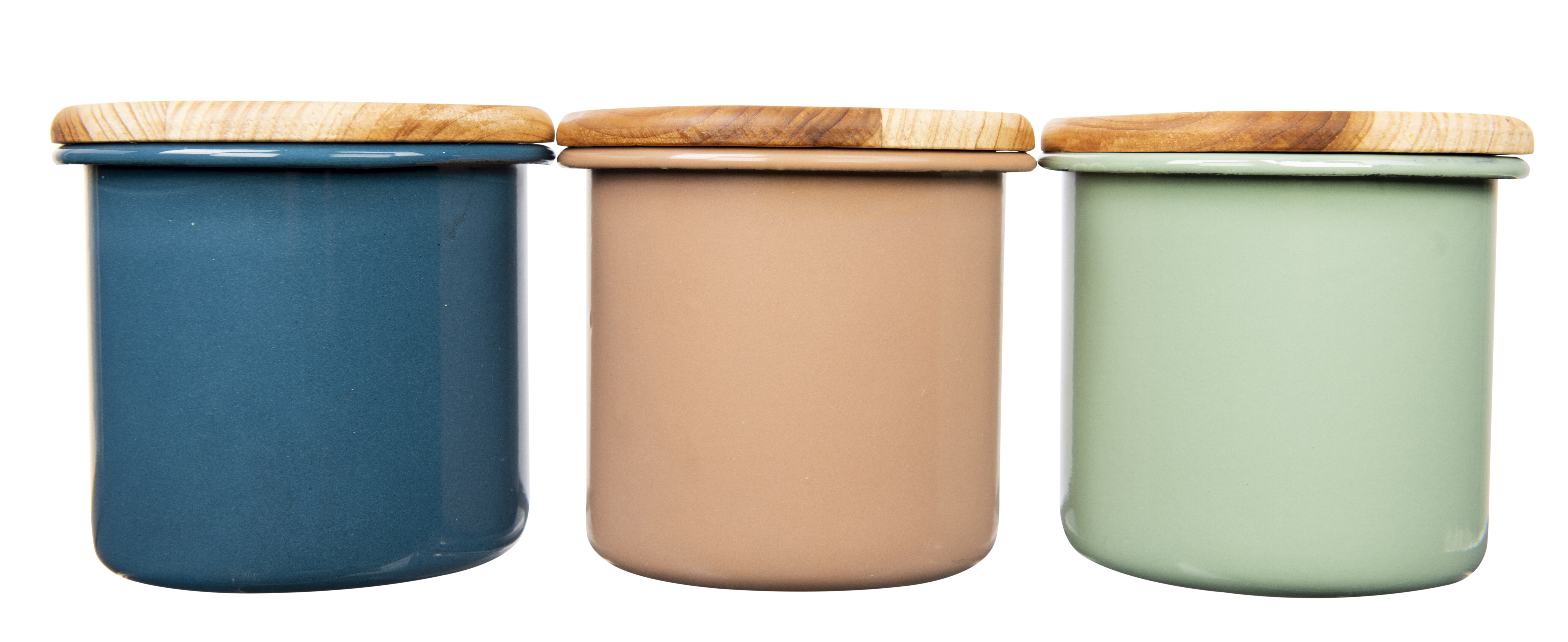 Enameled Container Kitchen Canister
