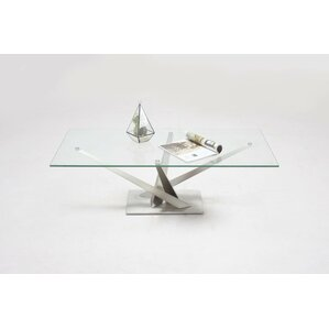 Catherina  Tempered Clear Glass Top by Orren Ellis