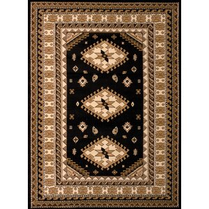 Juana Black/Brown Area Rug