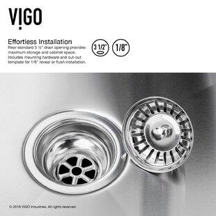 alma 23 inch undermount 16 gauge stainless steel kitchen sink 14 gauge stainless steel sink   wayfair  rh   wayfair com