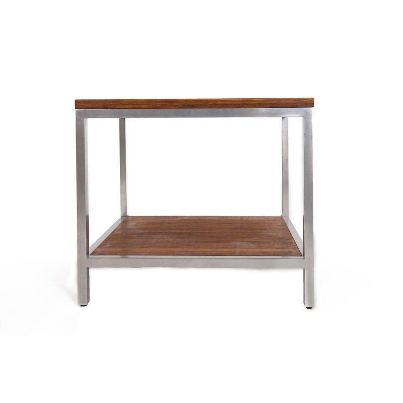 Betances Steel Framed Bamboo Side Table