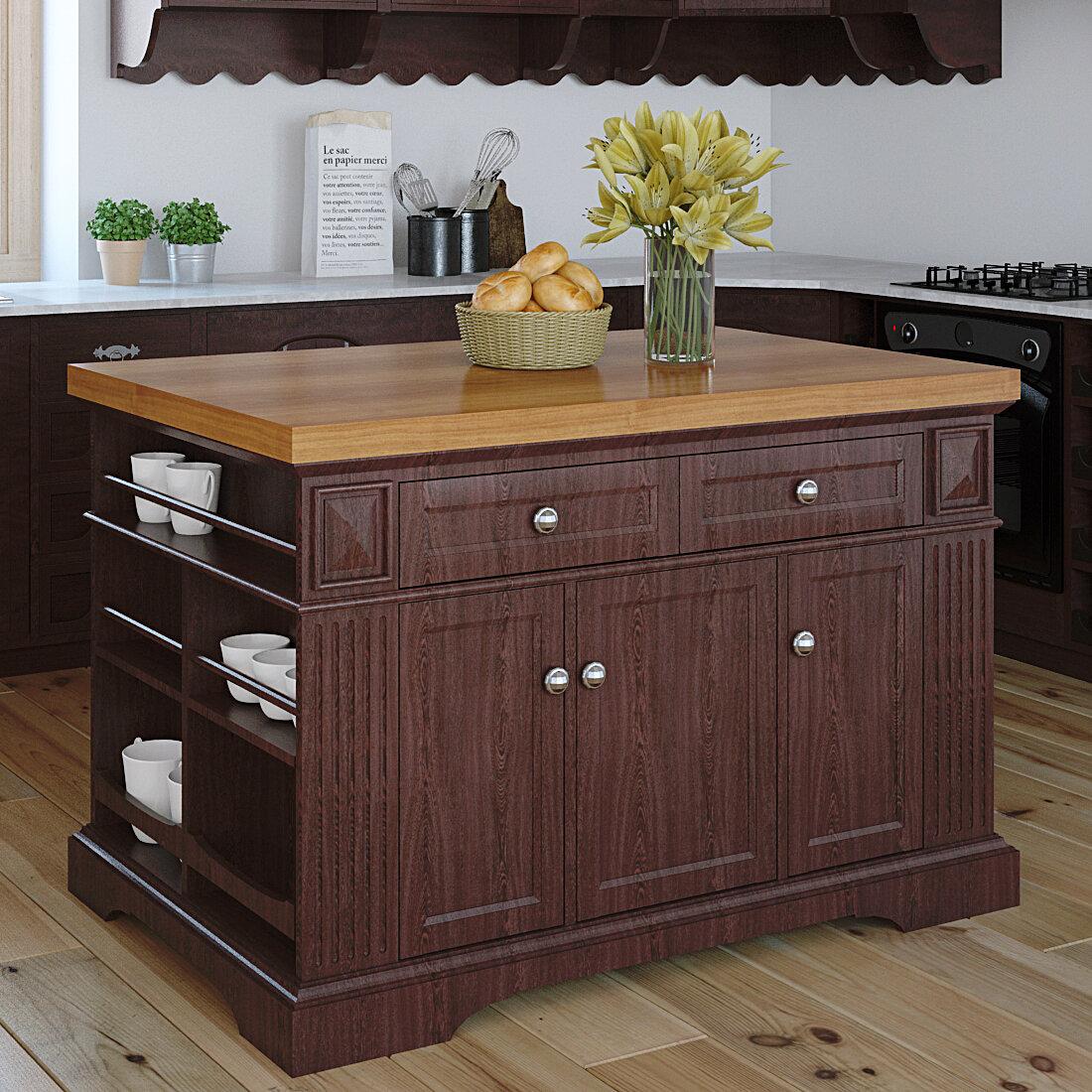 222 fifth furniture greenwich kitchen island with butcher block top wayfair