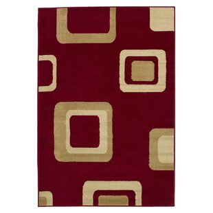 Calvert Red Area Rug by Andover Mills