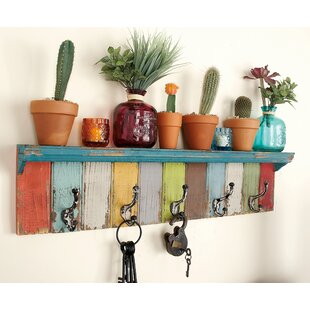 Peterkin Panel Wall Shelf With Hooks