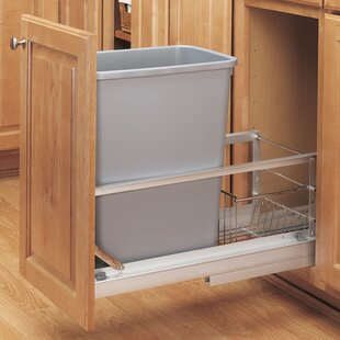 Kitchen Cabinet Trash Can Rack | Wayfair
