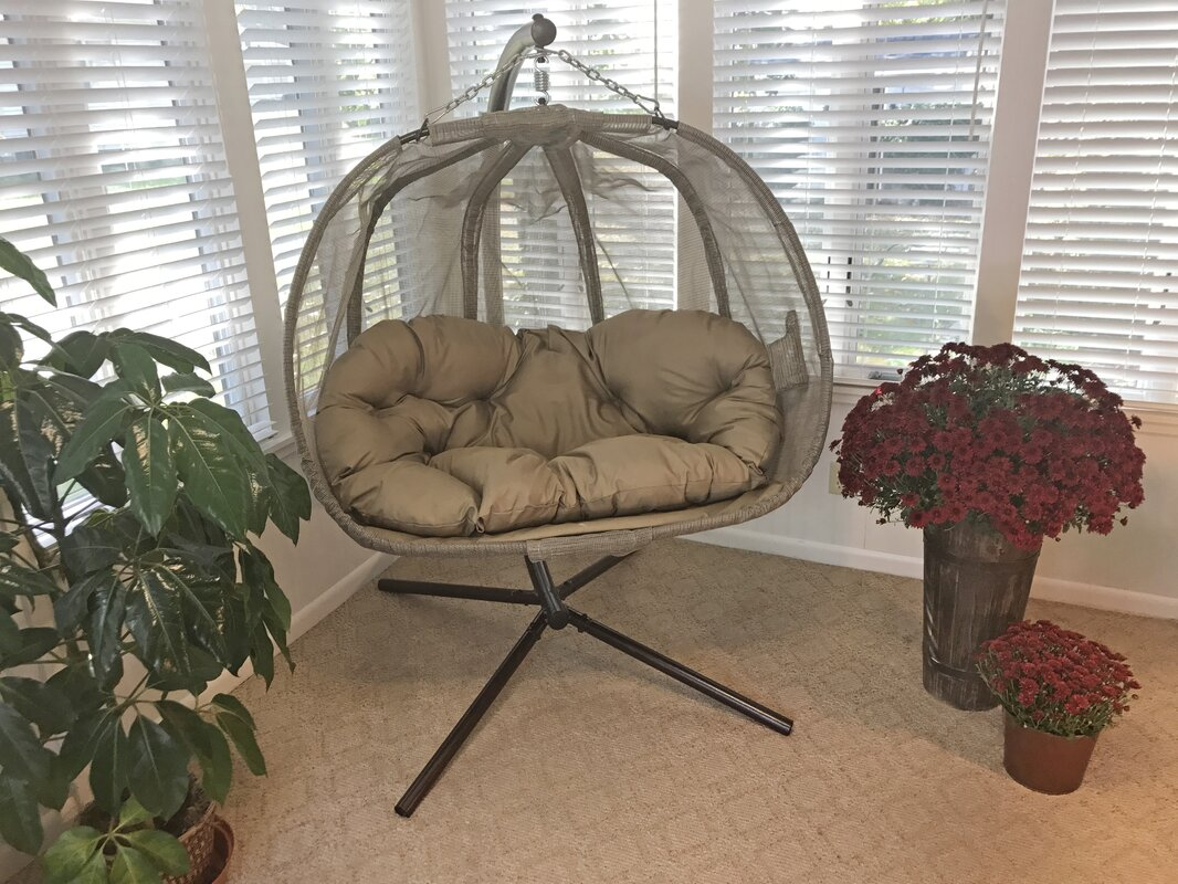 Flowerhouse Pumpkin Swing Chair With Stand Amp Reviews Wayfair