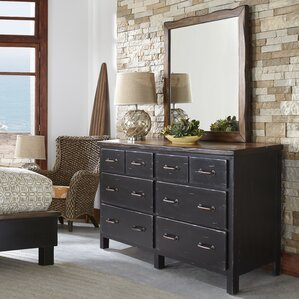 Big Sur 6 Double Dresser with Mirror by Panama Jack Home