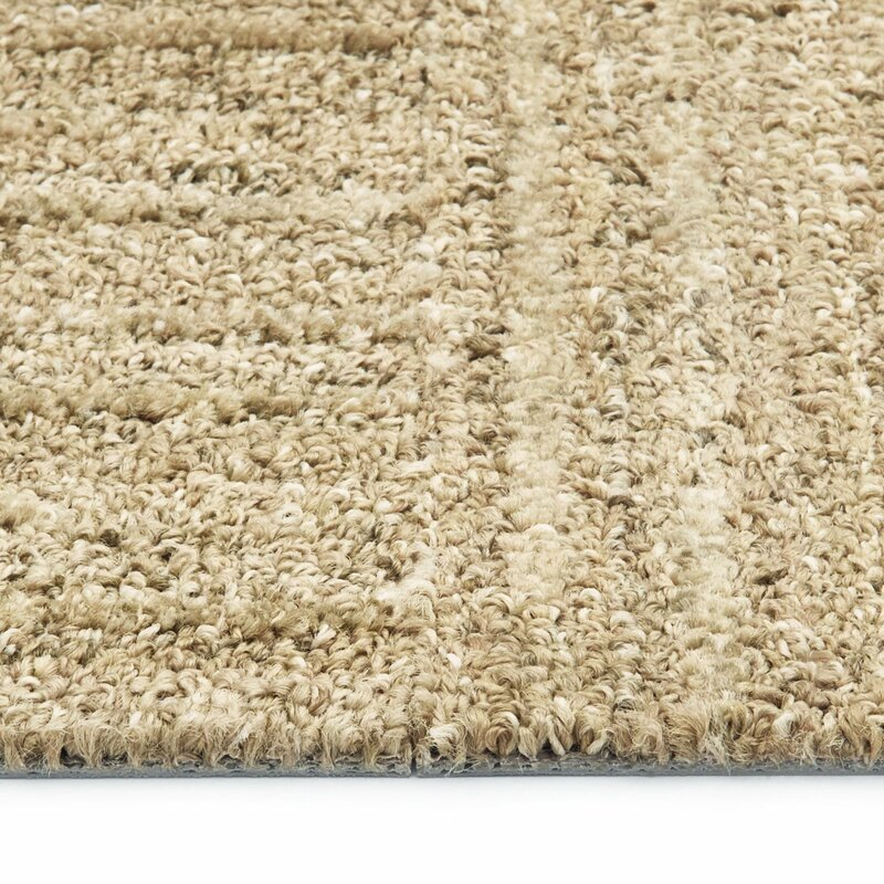 "Desert Dawn 9"" x 36"" Level Cut and Loop Carpet Tile"