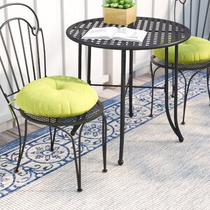 Sarver Bistro Outdoor Dining Chair Cushion (Set of 2)