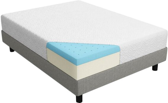 Lucid 10 Medium Plush Gel Memory Foam Mattress Reviews Wayfair