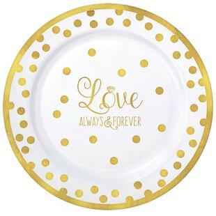 Wedding Premium Plastic Dinner Plate (Set of 20)  sc 1 st  Wayfair & Disposable Wedding Plates | Wayfair