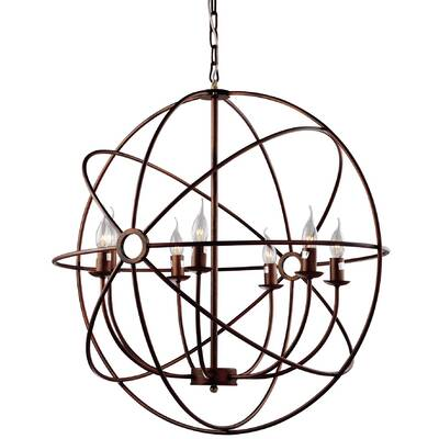 Brayden Studio Geyer 7 Light Globe Chandelier Reviews