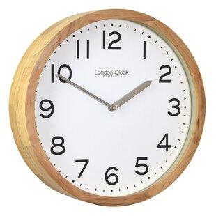 Light oak wall clock wayfair oak finish case 32cm wall clock aloadofball Choice Image
