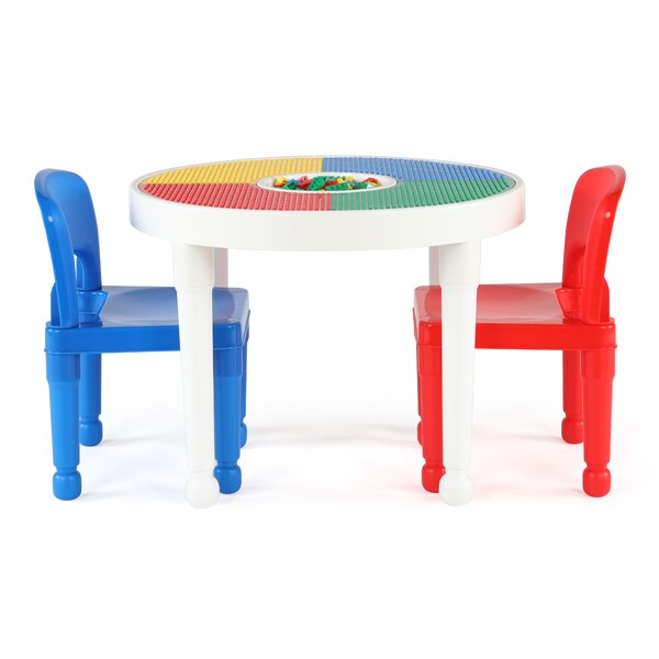 Kids 3 Piece Round Table And Chair Set